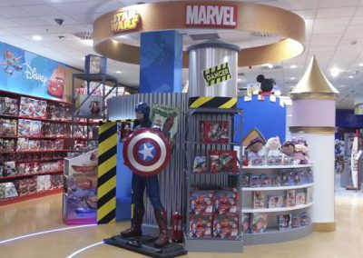 DISNEY area at POLY stores