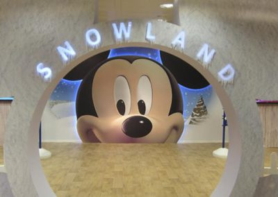 Snowland Disney at the Corte Inglés