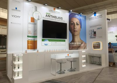 Booth for L'Oreal Cosmética Activa at the AEDV 2017 Trade Show